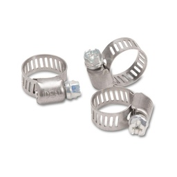 [MP_12-0022] Stainless Steel Hose Clamp quarter to 5-8ths inch - packet of 10